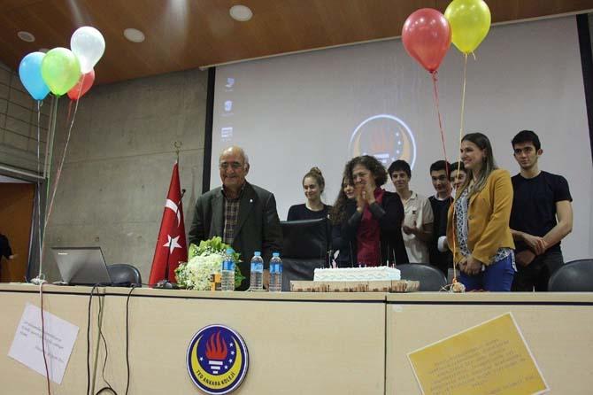 Yazar Adnan Binyazar 83'üncü doğum gününü gençlerle kutladı