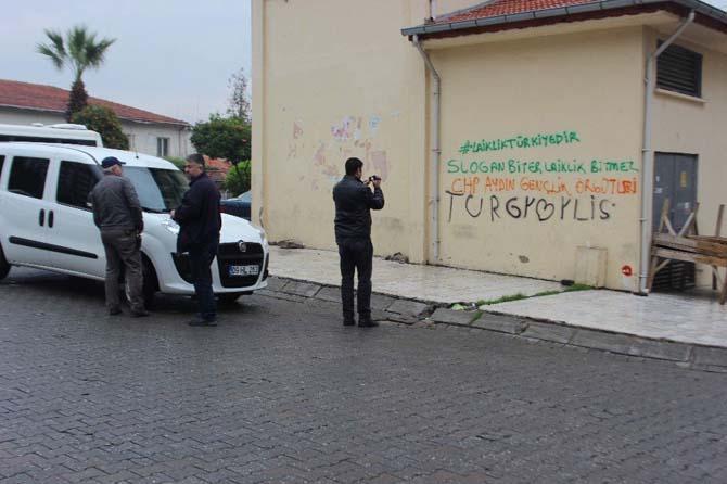 Duvar yazıları polisi harekete geçirdi