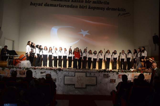 """Bafra'da """"İstiklal Marşı"""" programı"""