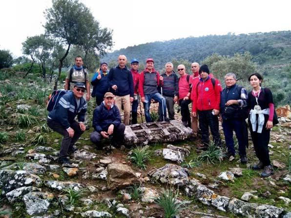 Sökeli doğaseverler antik çağın mermer ocaklarına yürüdü