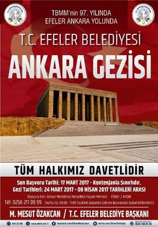 Efeler Belediyesi'nin kültür turları Ankara ile devam ediyor
