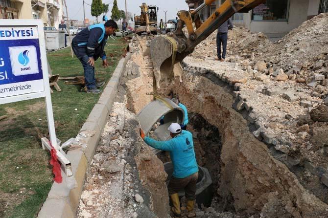 Şanlıurfa'da kanalizasyon hat yenileme çalışmaları sürüyor