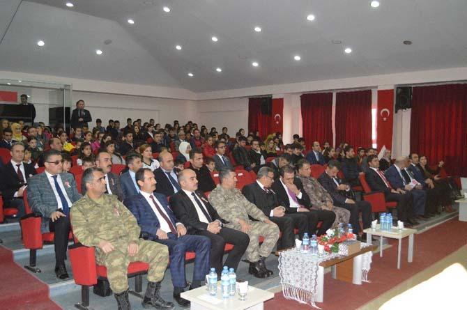 Şırnak'ta İstiklal Marşı'nın Kabulü ve Mehmet Akif Ersoy'u Anma Günü etkinliği