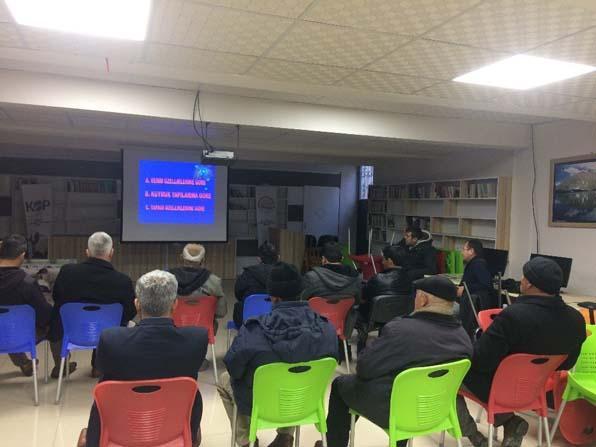"""""""Göçe karşı, Bafra koyunu yetiştiriciliği"""" projesinde 115 üreticiye eğitim verildi"""