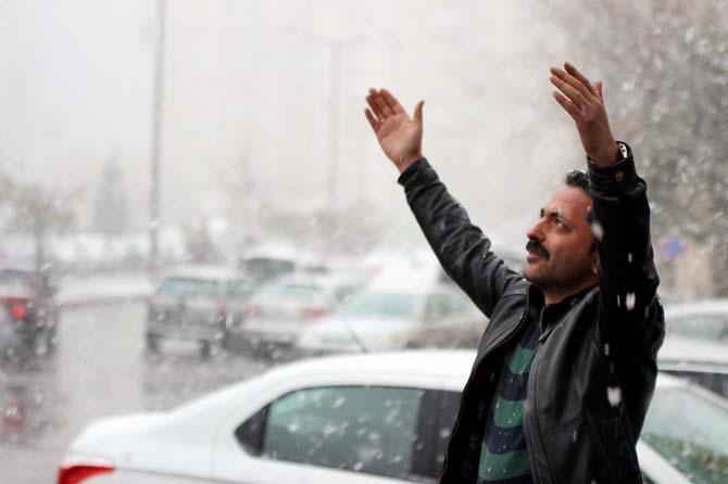 Kayseri'de Mart ayında kar sürprizi