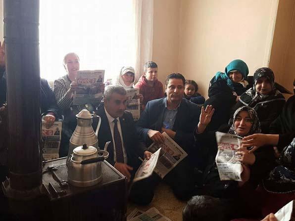 AK Parti Özalp ilçe başkanlığının referandum çalışmaları