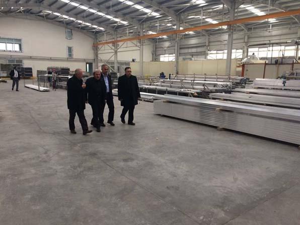 Başkan Şahin ve Başkan Yaman'ın fabrika ziyareti