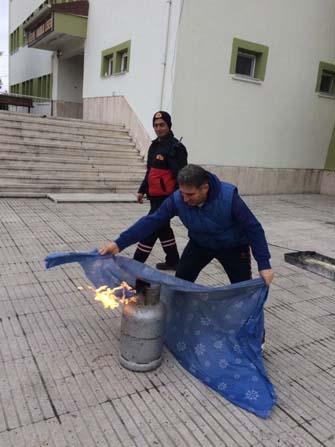 Akşehir'de deprem ve yangın tatbikatı