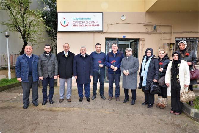 Başkan Baran, sağlık çalışanlarını ziyaret etti