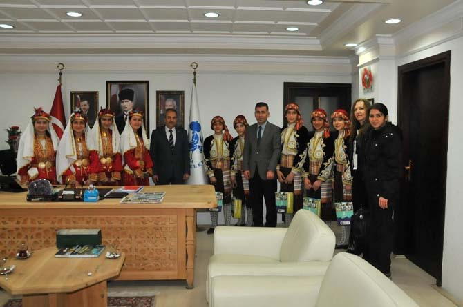 Başarılı ekiplerden Başkan Akkaya'ya ziyaret