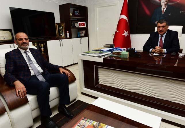 MÜSİAD Şube Başkanı Kalan'dan Başkan Gürkan'a ziyaret