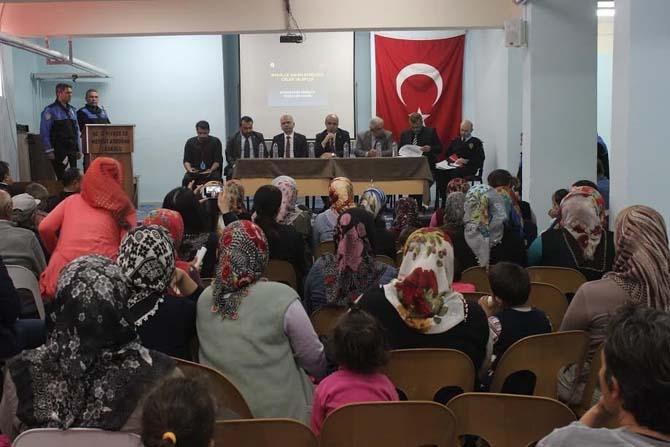 Osmaniye Emniyet Müdürlüğünden mahallelerde huzur toplantısı
