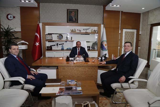 Ahmet Yesevi Üniversitesi Mütevelli Heyet Başkanı Yıldız'dan Başkan Duruay'a ziyaret