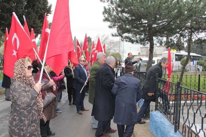 16 Mart şehitleri Edirnekapı'da anıldı