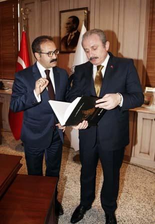 TBMM Anayasa Komisyon Başkanı Şentop'tan Rektör Gür'e nezaket ziyareti