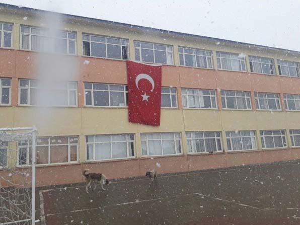 Bingöl'ün Yedisu ilçesinde kar yağışı