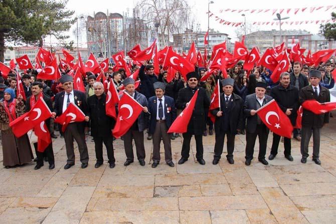 Sivas'ta 'Şehitlere Saygı Yürüyüşü' yapıldı