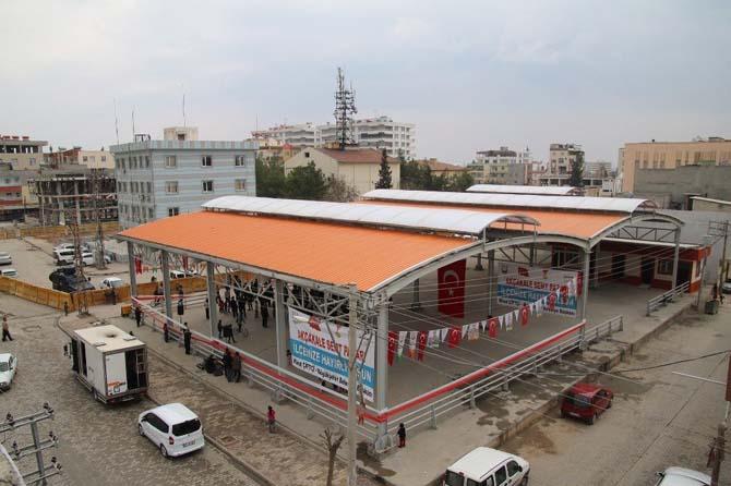 Akçakale'de semt pazarının açılışı gerçekleştirildi