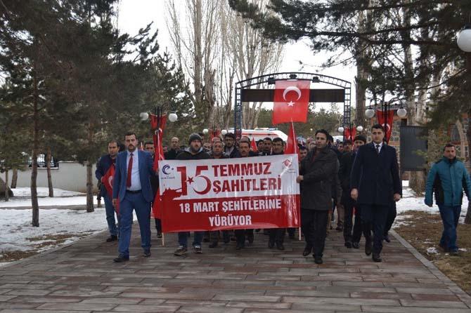 18 Mart Şehitleri için yürüyüş programı düzenlendi