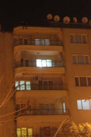 Denizli'de 19 yaşındaki kız 7.kattan intihara kalkıştı