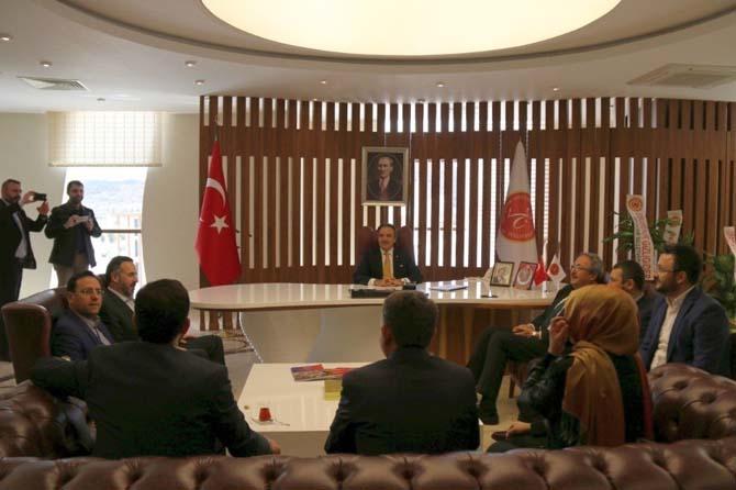 AK Parti heyetinden Rektör Bağlı'ya ziyaret