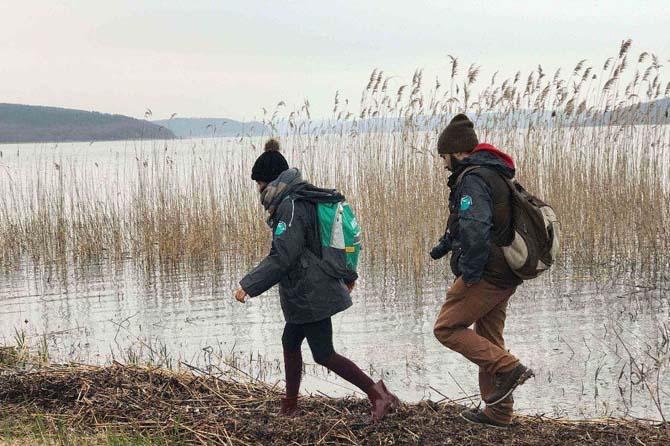 Doğaseverler 'su için yürüdü'