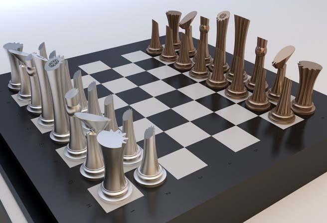 Satranç takımı tasarımı üçüncülük ödülüne layık görüldü