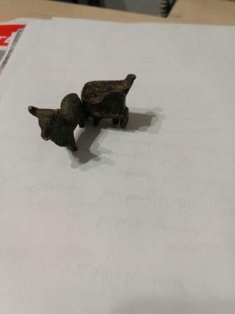 Define avcıları iki adet heykel ile birlikte yakalandı