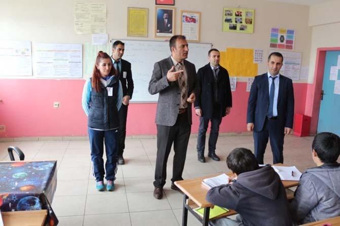Müdür Edip'ten okul ziyareti