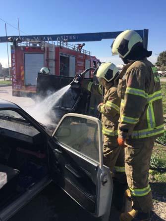 Bandırma'da araç yangını