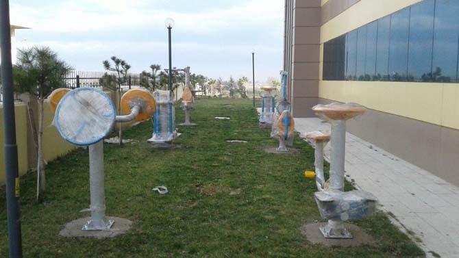 Burhaniye Belediyesi'nden öğrenci yurtlarına spor aletleri