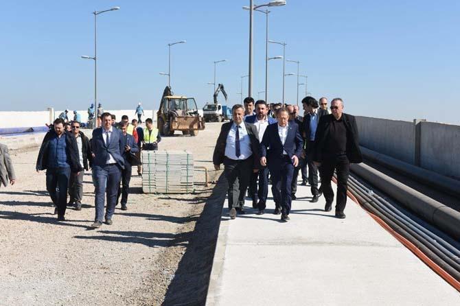Başkan Uğur Cunda Köprüsünü inceledi