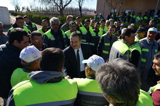 Tepebaşı'nda 280 işçiyi kapsayan toplu sözleşme sevinci