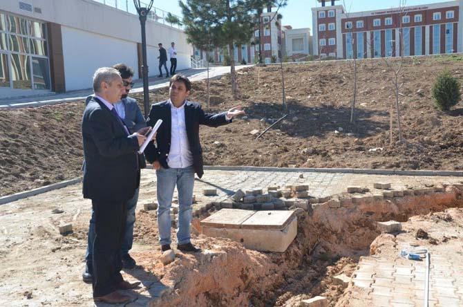 Bilecik Belediye Başkan Yardımcısı Abdullah Ay devam eden çalışmaları yerinde inceledi