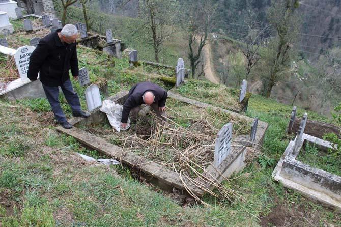 Mezarlıkta ayı nöbeti