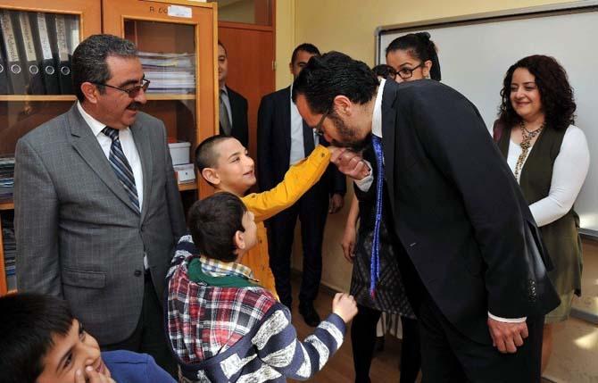 Cavit Bircan, özel öğrencileri ziyaret etti