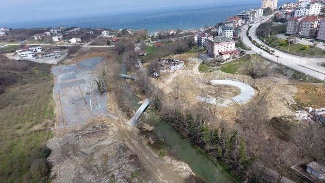 Çok amaçlı modern parkın inşaat çalışmaları aralıksız sürdürülüyor