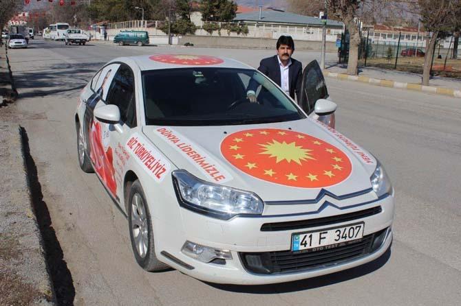 """Eski DSP Genel Başkan Adayı """"Evet"""" kampanyasına destek olmak için Erzincan'a geldi"""