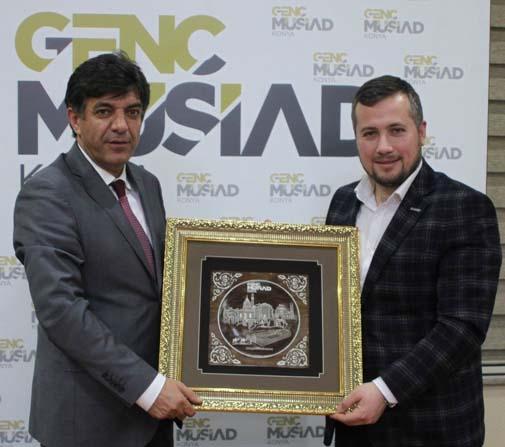 Genç MÜSİAD Konya Şubesi'nde tecrübe paylaşımları sürüyor