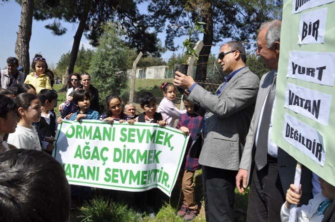 Öğrenciler Ağaç Müzesi'ne fidan dikti