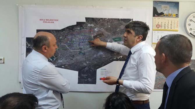 Manisa heyeti Bolu'daki kentsel dönüşüm çalışmalarını inceledi