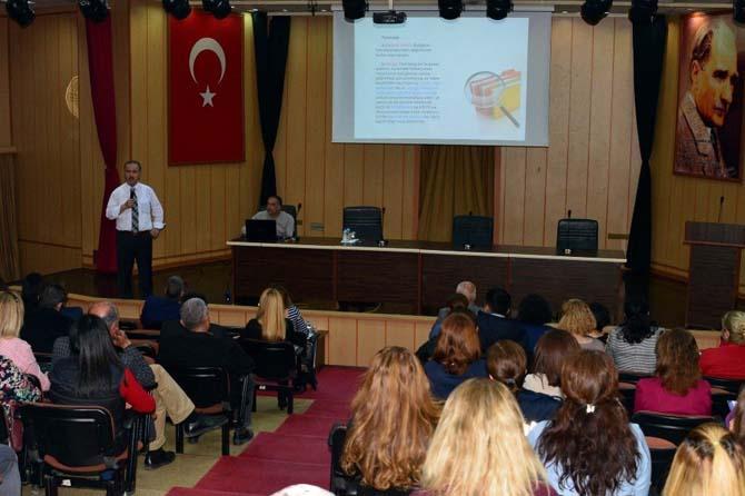 Akdeniz'de hizmet içi eğitim devam ediyor