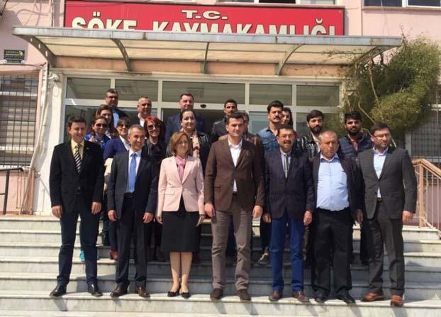 Aydın MHP Söke'de ziyaretler gerçekleştirdi