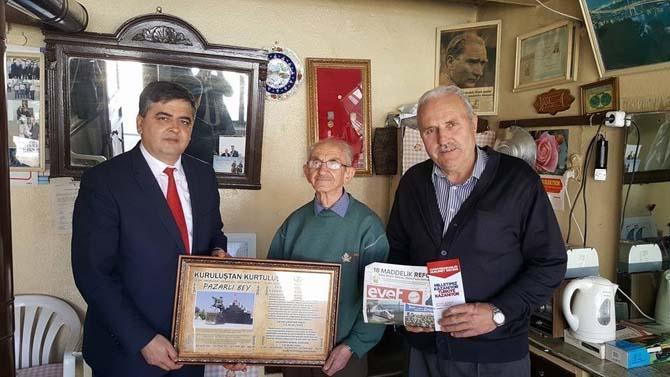Başkan Yalçın'dan Kore Gazisine ziyaret