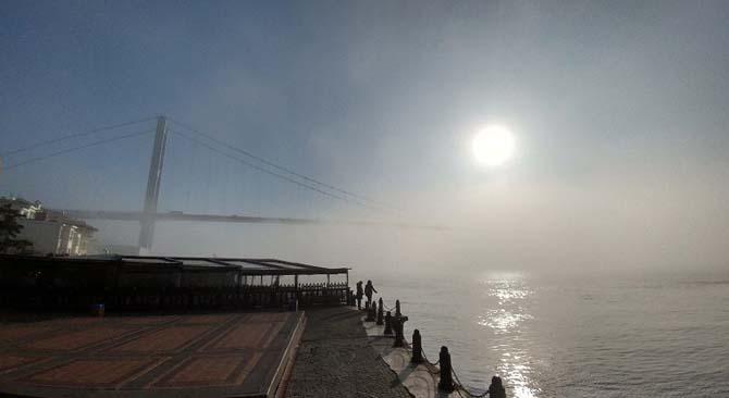 Deniz ulaşımına sis engeli