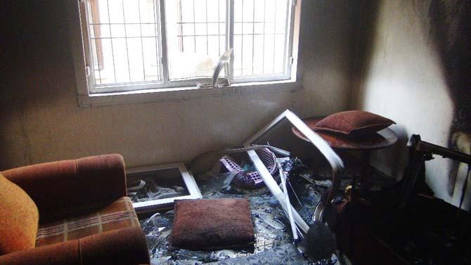 Suriyeli ailenin sığındıkları Gaziantep'teki evi yandı