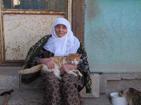 87 yaşındaki kadın, 30 sokak kedisine bakıyor