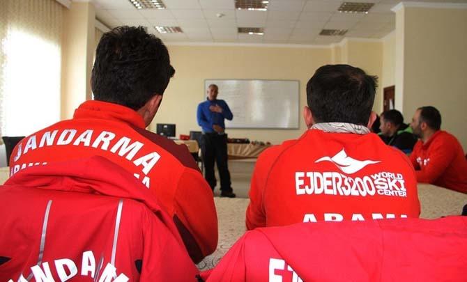 AFAD Erzurum'dan Zirvede Çığ Eğitimi