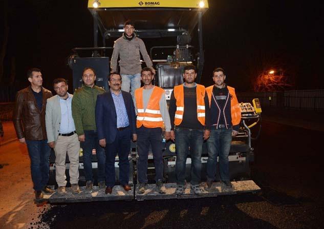 Başkan Atilla asfalt çalışmasını denetledi
