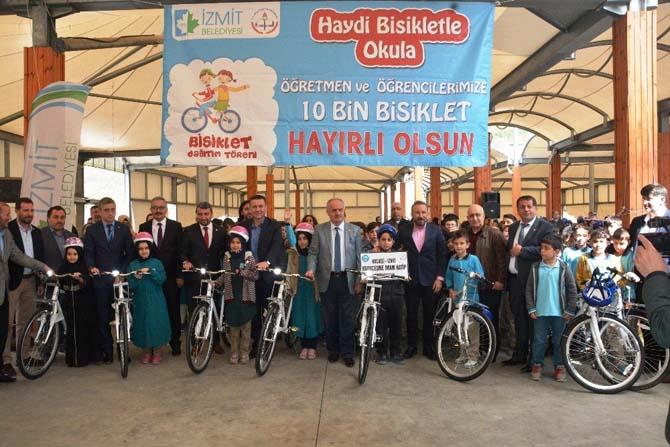 262 öğrenci daha 'Haydi Bisikletle Okula' dedi